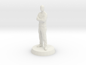 Male - Arms Crossed in White Natural Versatile Plastic