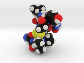 Oxytocin Nona Peptide Molecule Model  in Full Color Sandstone