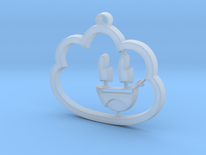 Dreamy Pendant in Smooth Fine Detail Plastic
