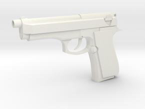 Gun in White Natural Versatile Plastic