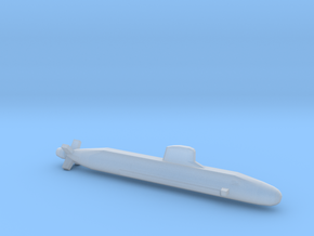 Barracuda class SSN, Full Hull, 1/2400 in Smooth Fine Detail Plastic