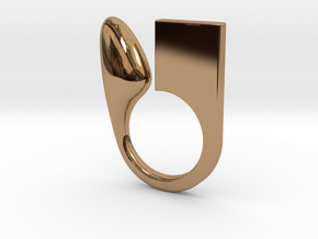 Kin - Size S in Polished Brass