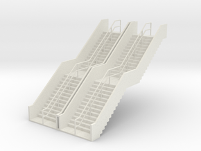 HO 2x Stairs H62mm in White Natural Versatile Plastic