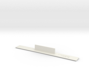 ME83-168R Curve Template HO Scale in White Natural Versatile Plastic