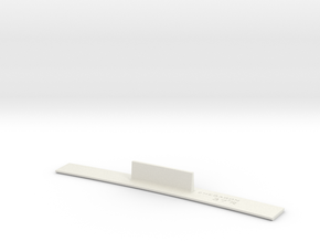 ME83-37R Curve Template HO Scale in White Natural Versatile Plastic