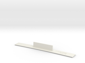 ME83-60R Curve Template HO Scale in White Natural Versatile Plastic