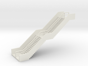 N Scale Station Stairs H40mm in White Natural Versatile Plastic