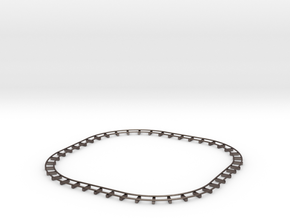 Track in Polished Bronzed Silver Steel