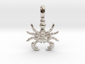SCORPION TOTEM Zodiac Pendant Jewelry Symbol in Rhodium Plated Brass