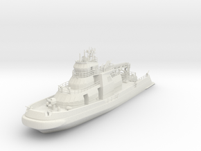 1/87 Fire Boat Like FDNY 343 in White Natural Versatile Plastic