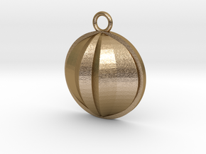 Beauty Flower Pendant  in Polished Gold Steel