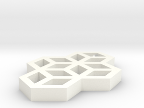 Geometric Necklace in White Processed Versatile Plastic