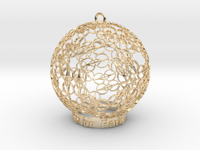 Peace for Paris Memento Ornament in 14k Gold Plated Brass