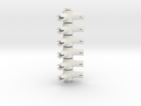 Pin Connector #5 in White Natural Versatile Plastic