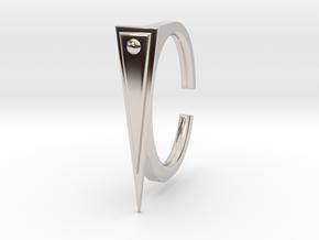 Ring 2-2 in Rhodium Plated Brass