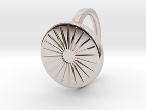Ring 4-2 in Rhodium Plated Brass