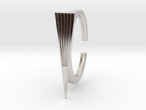 Ring 2-3 in Rhodium Plated Brass