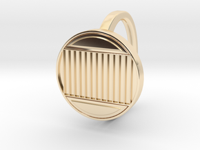 Ring 4-3 in 14k Gold Plated Brass
