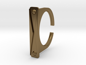 Ring 1-6 in Polished Bronze