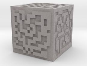 Maze cube in Full Color Sandstone