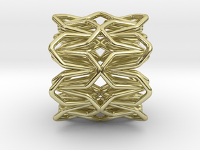 YOUNIC Fabric 360 Pendant in 18k Gold Plated Brass