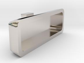 1/10 Scale rear view mirror Billet Alum. type in Rhodium Plated Brass
