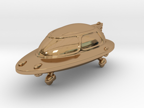 Space Car 1 in Polished Brass