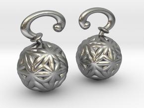 Vargheim Earrings Alfa in Natural Silver