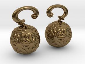 Vargheim Earrings Alfa in Polished Bronze