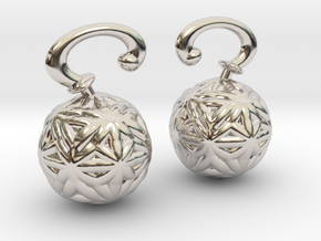 Vargheim Earrings Alfa in Rhodium Plated Brass