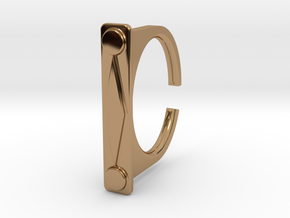 Ring 1-9 in Polished Brass