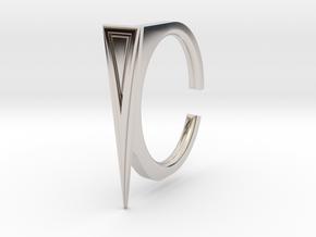 Ring 2-7 in Rhodium Plated Brass