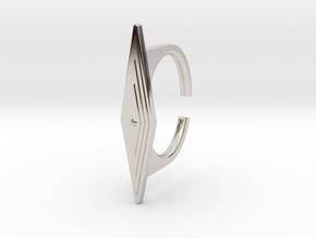 Ring 5-8 in Rhodium Plated Brass