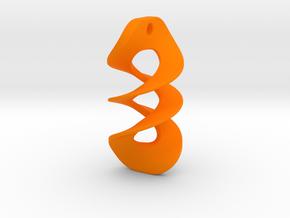 013 NECKLACE in Orange Processed Versatile Plastic