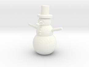 Snowman in White Processed Versatile Plastic