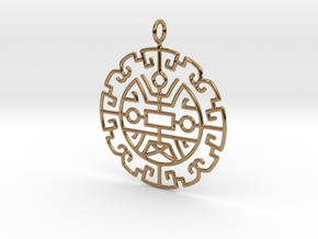 Chinese lucky pattern in Polished Brass