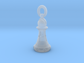 Chess Bishop Pendant in Smooth Fine Detail Plastic