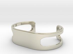 Bracelet, size 5, embossed - 70x38 in 14k White Gold