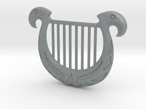 Zelda's Harp in Polished Metallic Plastic