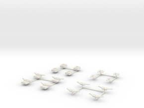 EQ01 3WA Flight Packs (28mm) in White Strong & Flexible