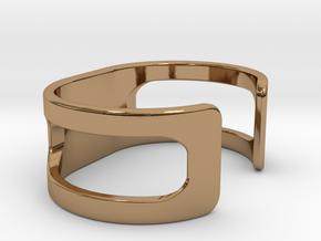 Bracelet, size 1, embossed - 51x22 in Polished Brass