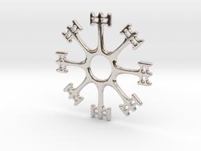 Draumstafur 2cm diameter in Platinum