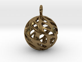 Sphere Pendant in Polished Bronze