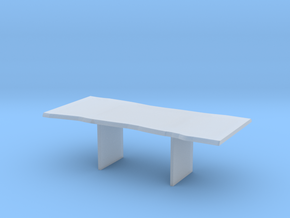 Wood Slab Table - 001 1:12 scale in Smooth Fine Detail Plastic