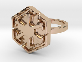 3d Star Wars Sith, Size 9 in 14k Rose Gold Plated Brass