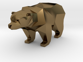 A Bear - 2.6cm in Polished Bronze