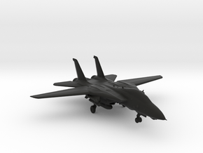F14 jet Tomcat big in Black Natural Versatile Plastic