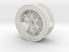 Front-wheel-traction-Dia52mm in White Natural Versatile Plastic
