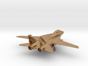 F14 grumman jet gold & precious materials small in Polished Brass