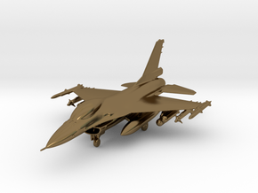 F-16 Fighting Falcon Jet Gold & Precious materials in Polished Bronze